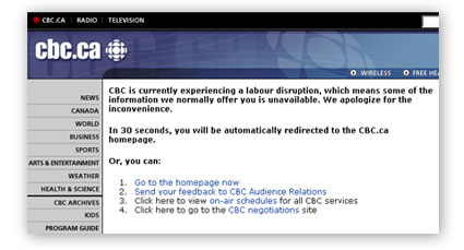 cbc web problems