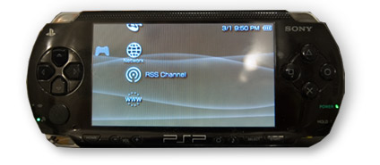 psp with rss feed