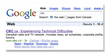cbc google search