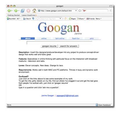 googan web site