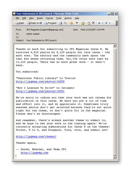 jpg magazine rejection letter
