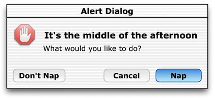 nap dialogue box