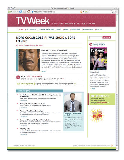 TV Week launched TVweek.ca